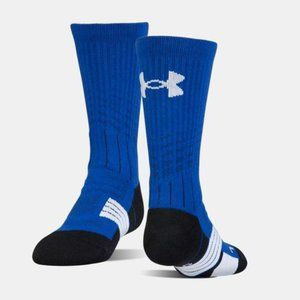 Under Armour Youth Blue Crew Sock YLG